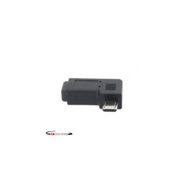 Mini USB Female --  Micro USB Male Adapter Kábel Fekete