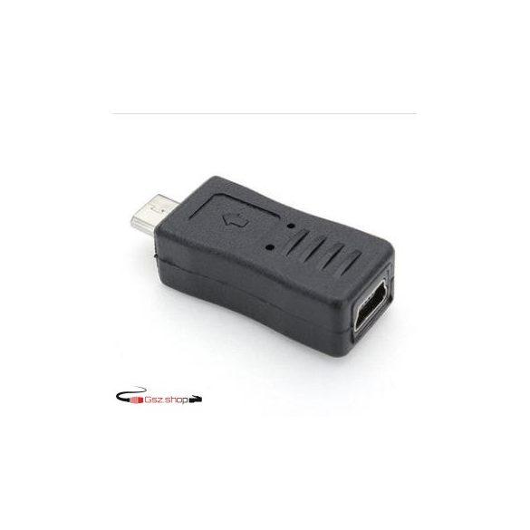 Micro-B Male --- Mini-B Female  5-Pins Adapter  USB 2.0