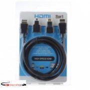 3 az 1 -ben  High Speed HDMI Kábel + Micro HDMI + Mini HDMI Készlet