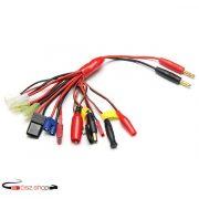 Multifunction Balance Charging Cable XT60 EC3 EC5 TRX T Plug JST JR FUTABA Anderson Plug Adapter