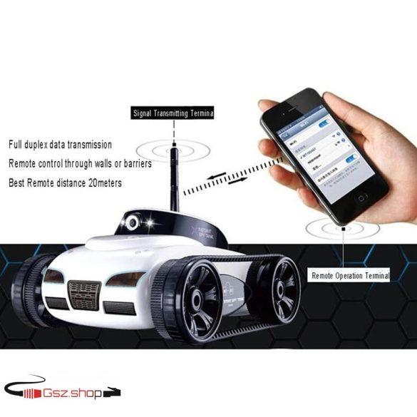Happy Cow 777-270 Mini WiFi Telefonról vezethető RC Tank  IOS / Android  APP- ezüst